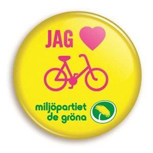 Bild på Knapp - Jag hjärta cykling