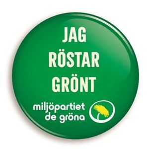 Bild på Knapp - Jag röstar grönt - skog