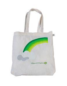 Bild på Tygkasse - Grön regnbåge