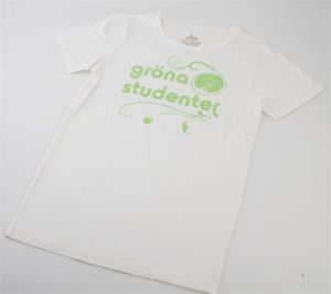 "Bild på Vit T-shirt ""Gröna studenter"""