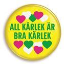 Bild på Knapp - All kärlek är bra kärlek - citron