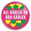 Bild på Knapp - All kärlek är bra kärlek - körsbär
