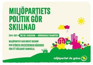 Bild på Folder Miljöpartiets politik gör skillnad