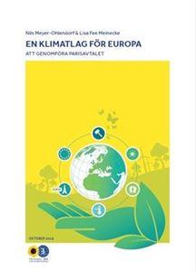 Bild på En klimatlag för Europa - att genomföra Parisavtalet