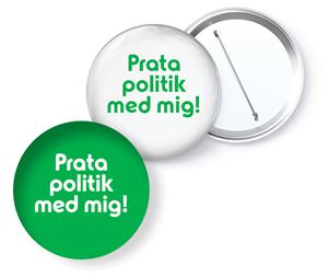Bild på Knapp - Prata politik med mig 56 mm